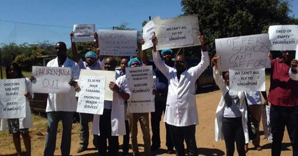 striking zimbabwean doctors