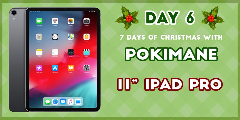 DAY 6 😊 an iPad Pro! perfect for multitasking, drawing, social media, and it's super portable 👍🏼   Like / RT + enter here: http://bit.ly/2EPkZlS  only 1 more day of giveaways 😱
