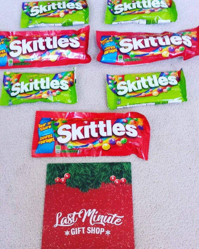... Toronto get to pickup a free unique #Skittles gift item. Every1 else gets a box of @skittles. It's a win-win! #AD #LastMinuteGiftShop #TasteTheRainbow ...