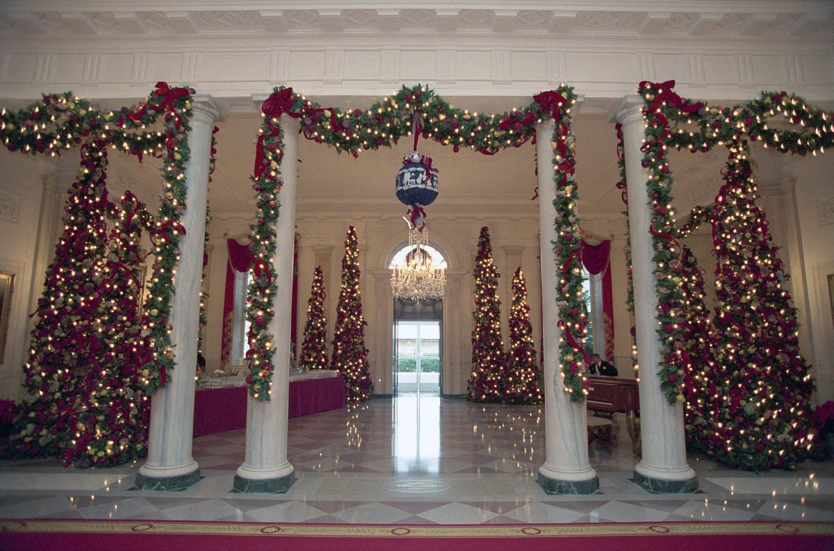 White House History On Twitter Christmas Decorations In