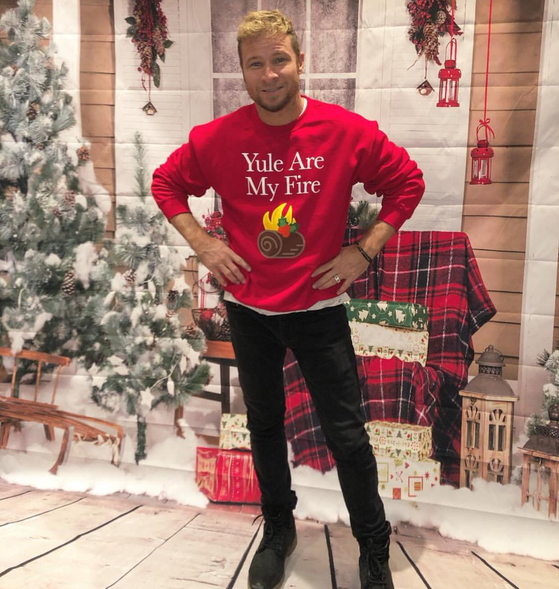 Backstreet Boys Christmas Sweater.Backstreet Boys On Twitter Yule Are My Fire We Ve