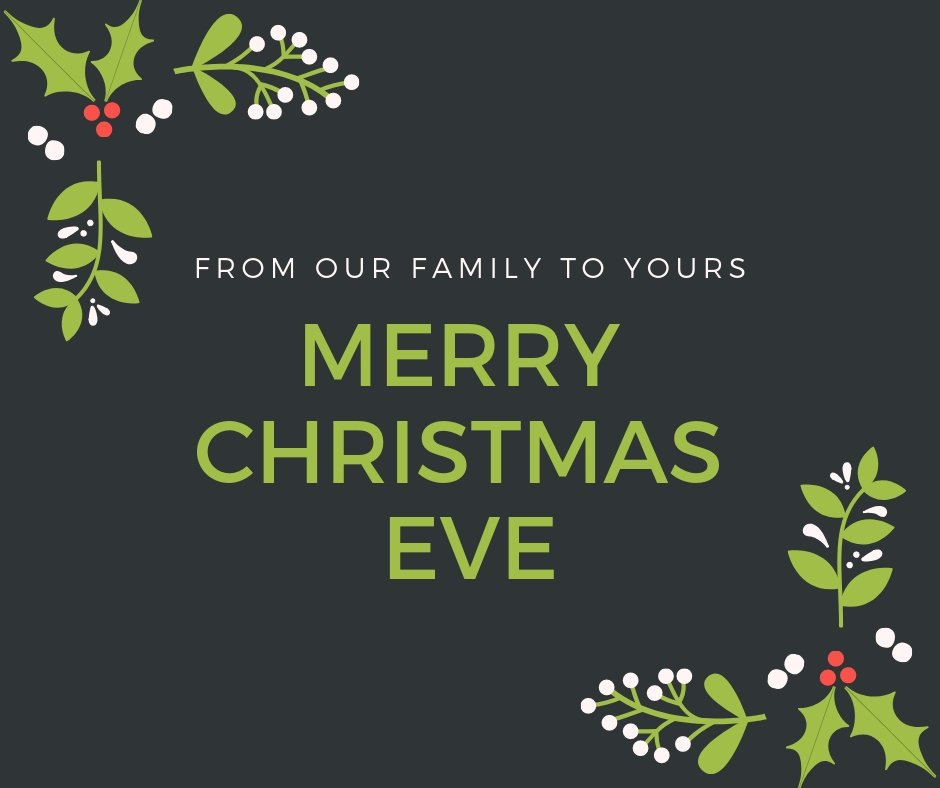 Wishing you and yours a very safe and very merry #ChristmasEve!