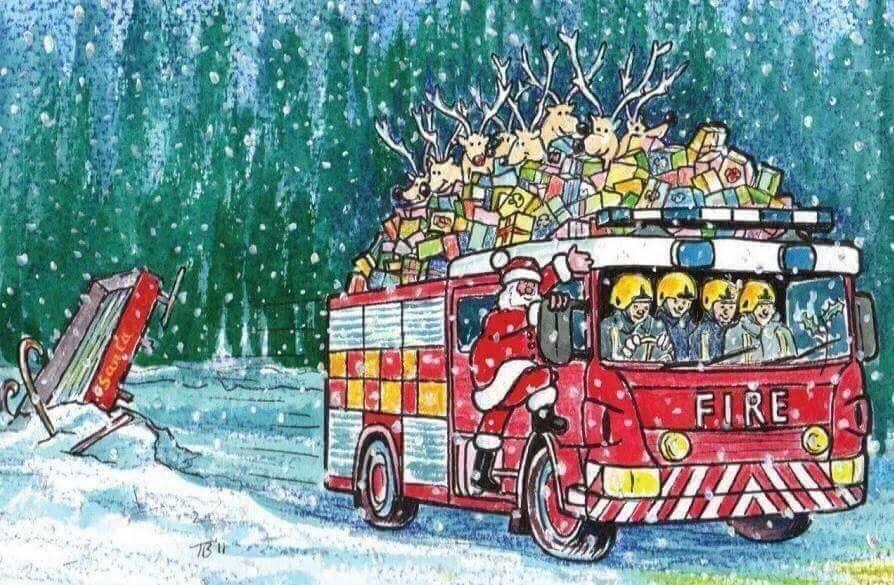 Поздравления с новым годом для пожарного