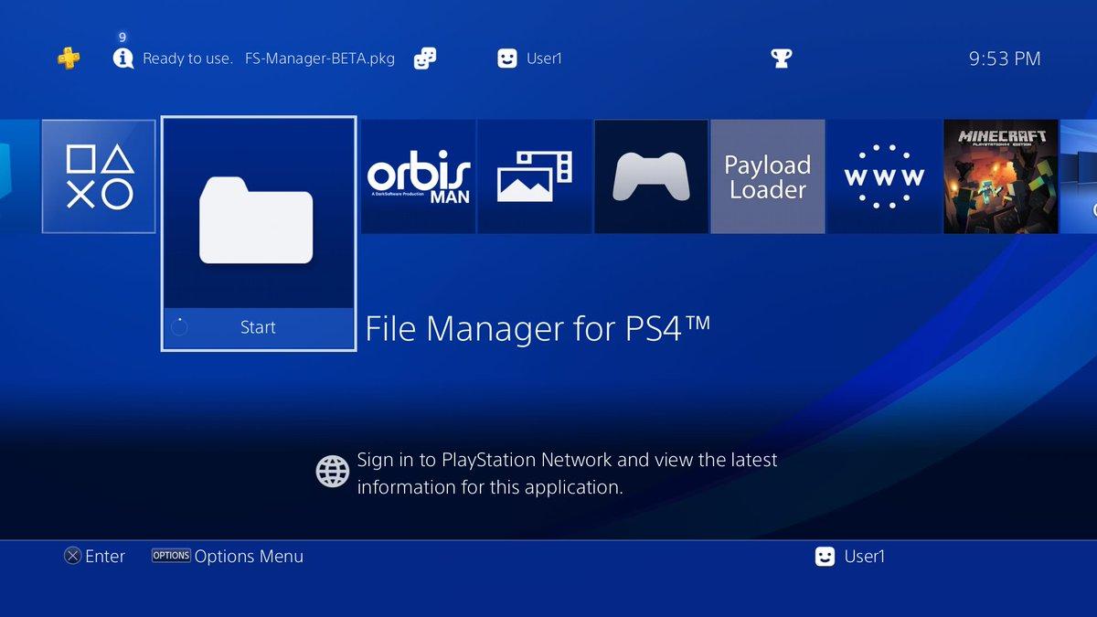 السلام عليكم ورحمة الله وبركاته بكج تصفح الملفات النظام PS4.