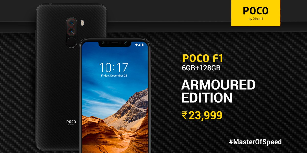 The POCO F1 arrives in India with a new memory combination