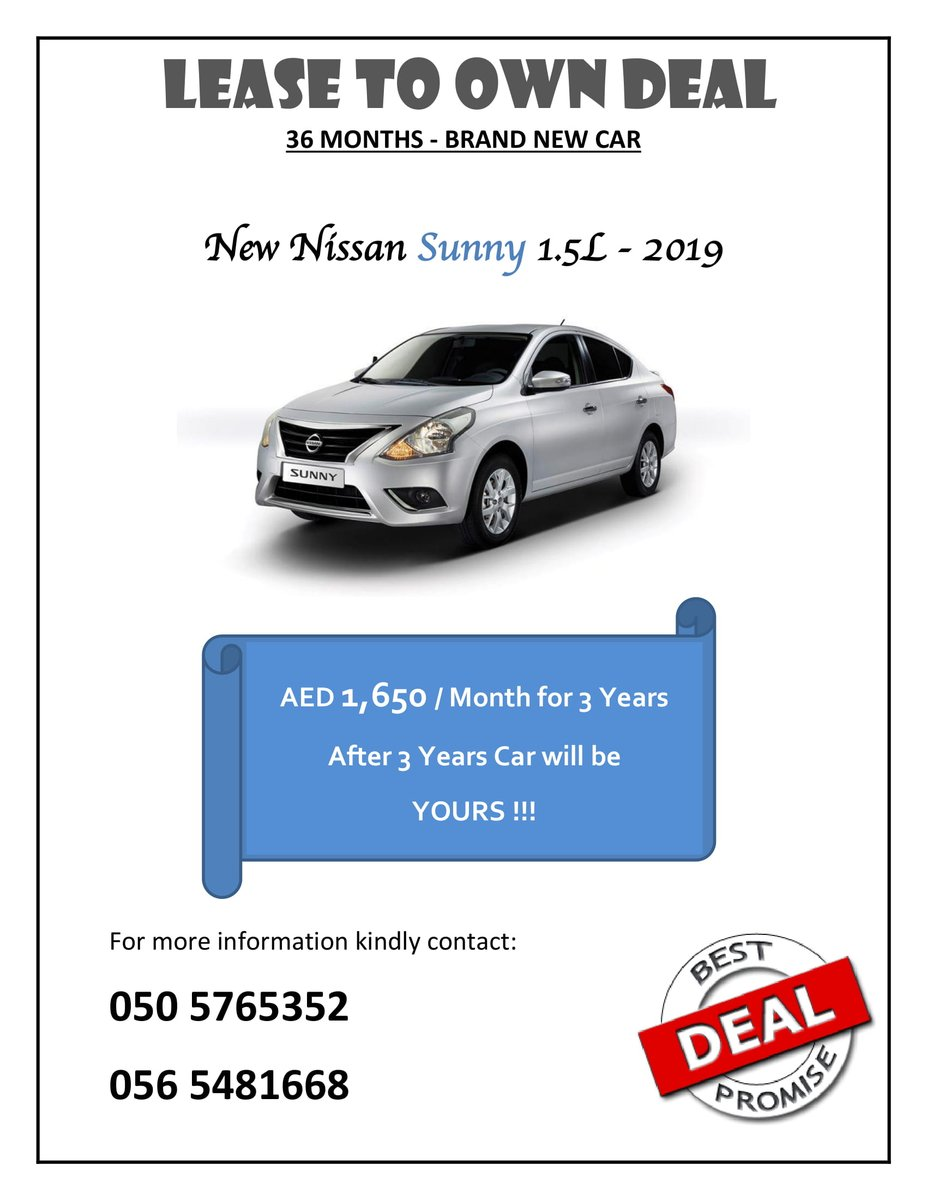 Lease To Own Car >> Car Rental And Leasing Deals Uae Rentaluae Twitter
