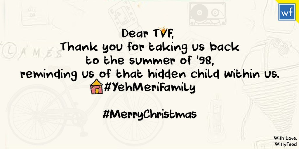 This #Christmas we decided to spread some joy and love, and so we have a jolly message for @TheViralFever. #FromWittyFeedWithLove #MerryChristmas #WittyFeed https://t.co/9Pogc4yo1x