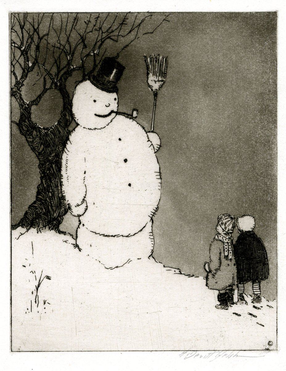 Happy #Christmas! Here's a jolly looking snowman made by American artist Horace Devitt Welsh in 1922 ⛄️
