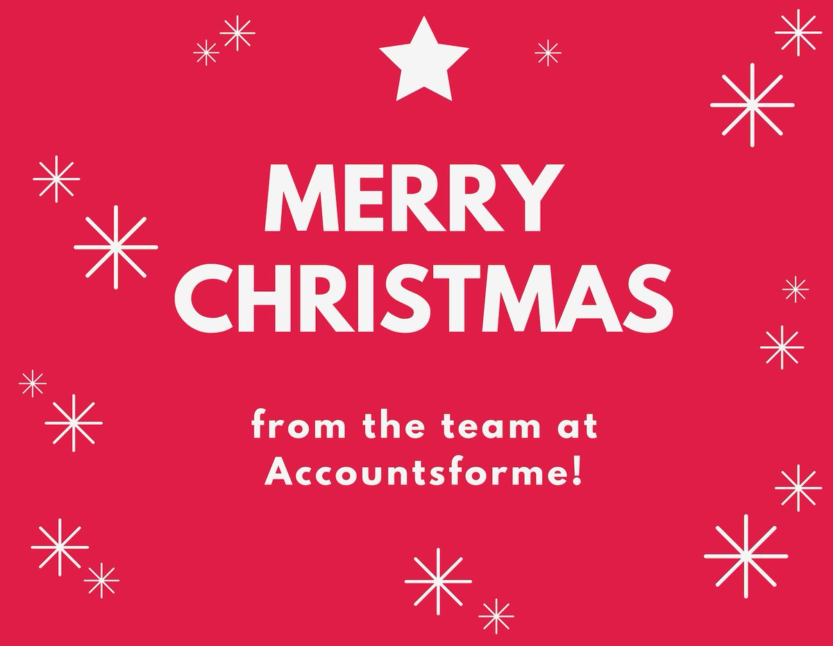 Merry Christmas from the team at Accountsforme! #MerryChristmas #Christmas2018