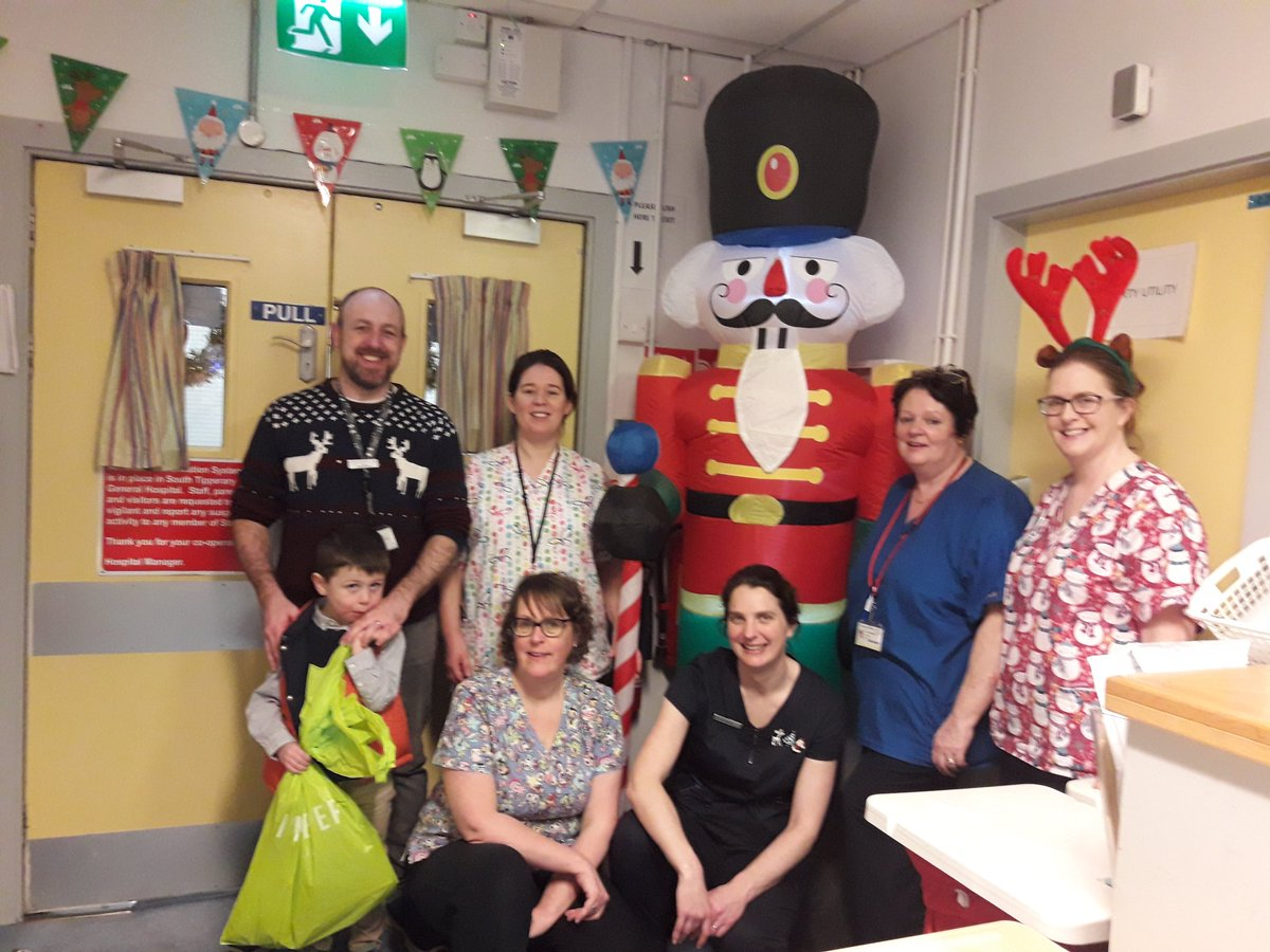 Christmas Morning STGH. Many thanks to all staff working Christmas day keeping the services going and our patients safe.