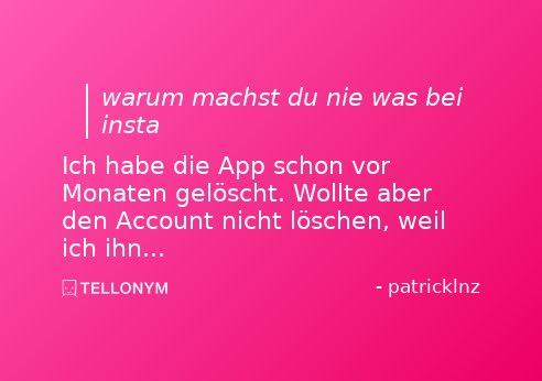 Tellonym account löschen
