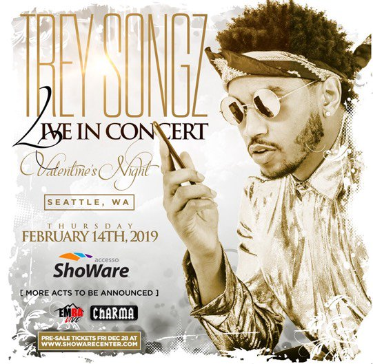"Seattle, WA - Trey Songz Live in Concert ""Special Valentine's Night"" @ ShoWare Center"