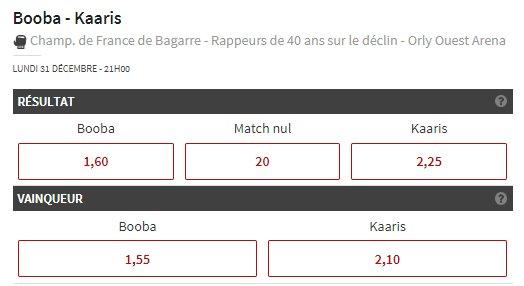 🚨 Les cotes pour Booba VS Kaaris sont disponibles ! 🥊💥  Pariez sur le match ➡️ https://t.co/0b55q3yp54