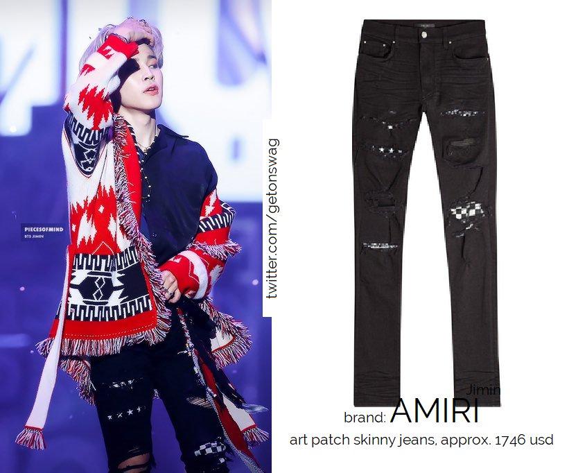 super cute online for sale cute requested AMIRI art patch skinny jeans JIMIN #JIMIN 181225 ...