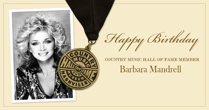 Help us wish Country Music Hall of Fame member Barbara Mandrell a very happy birthday!
