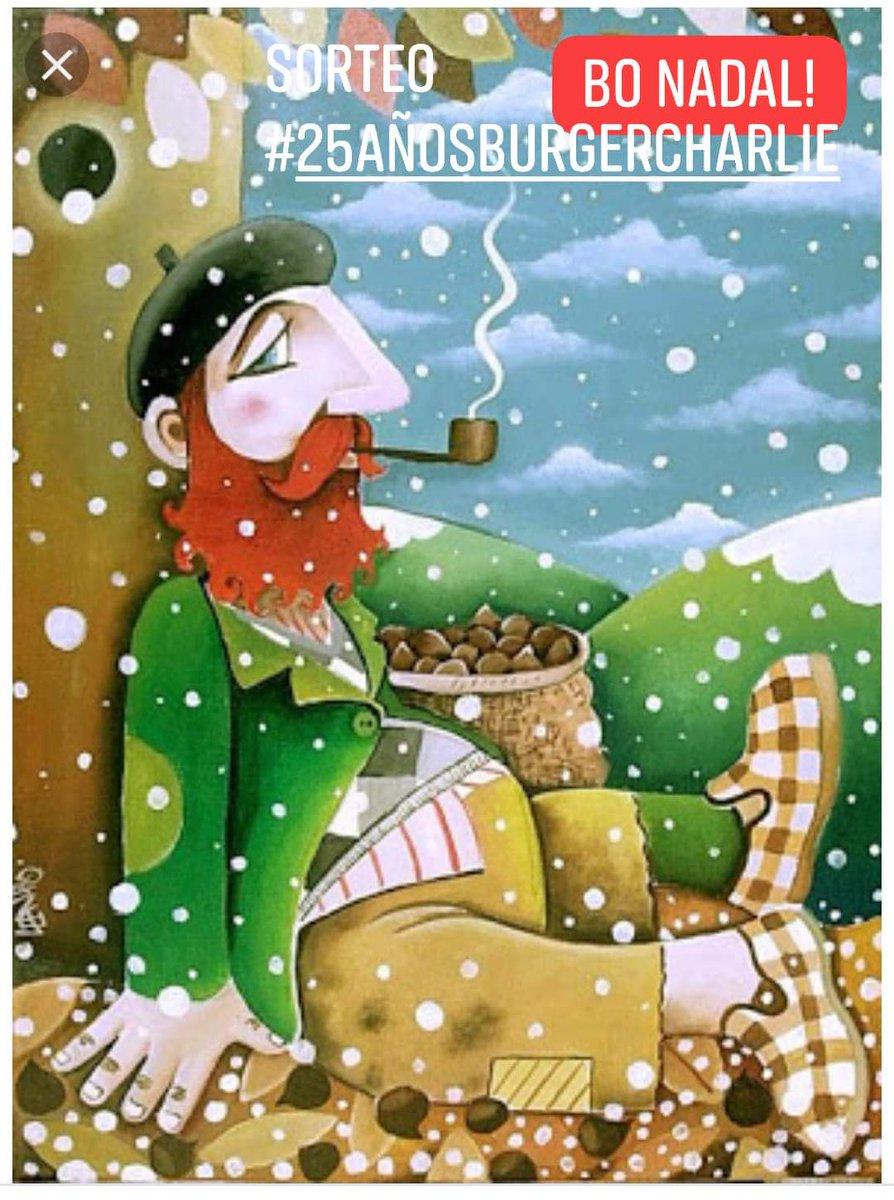 Bo nadal!🎄 Además de felicitaros la Navidad, os recordamos que tenemos el último sorteo por los #25añosBurgerCharlie. Solo tenéis que escribir un comentario con vuestra mejor felicitación navideña... ▫️⌚ Abrimos a partir de las 18:00 #BurgerCharlie