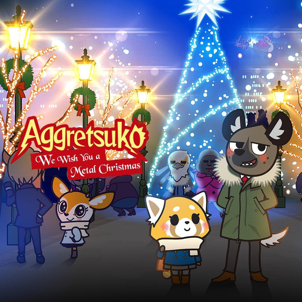 Aggretsuko Christmas.Aggretsuko On Twitter Wishing You All A Metal Christmas