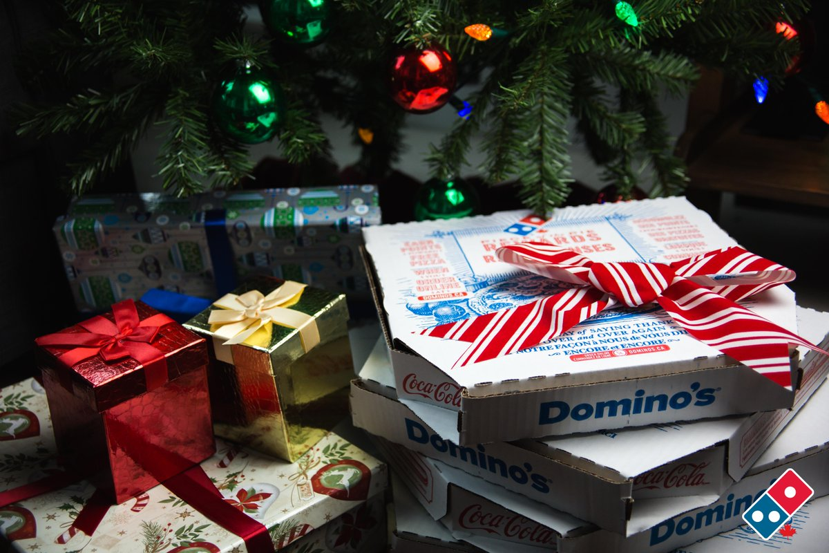 Is Dominos Open On Christmas.Domino S Canada On Twitter Merry Christmas We Hope