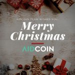 Image for the Tweet beginning: AidCoin Team wishes you..MERRY CHRISTMAS!