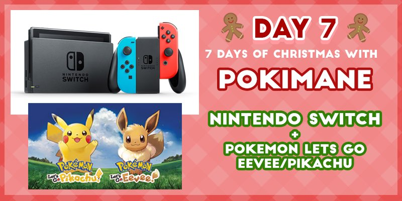 finishing off the giveaways with a bang 💥 😁, today's prize is a Nintendo Switch + your choice of Pokemon Let's Go Eevee / Pikachu! ⛄️   RT / Like this tweet + Enter here: http://bit.ly/2rVBwfP