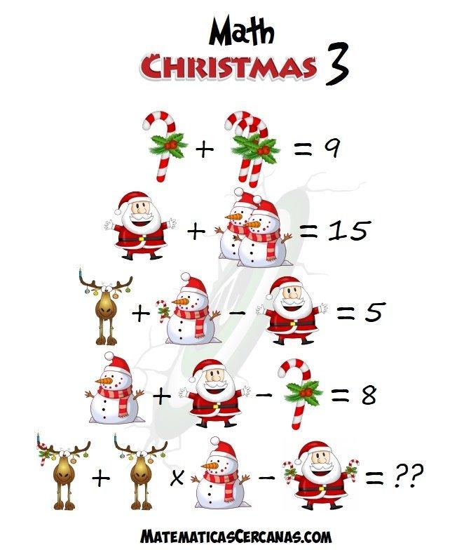 """🄰🄼🄰🄳🄴🄾 🄰🅁🅃🄰🄲🄷🄾 (MᴀᴛᴇᴍᴀᴛɪᴄᴀsCᴇʀᴄᴀɴᴀs) on Twitter: """"Como todas  las Navidades, os traigo una nueva entrega, la tercera, de problemas  navideños para ejercitar un poco las neuronas. https://t.co/sKUcXYz8y3  #MerryChristMaths ..."""