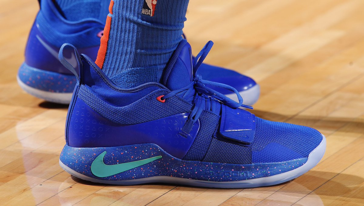 premium selection 32f0c 89949 yg_trece debuts the blue colorway of the @playstation x nike ...