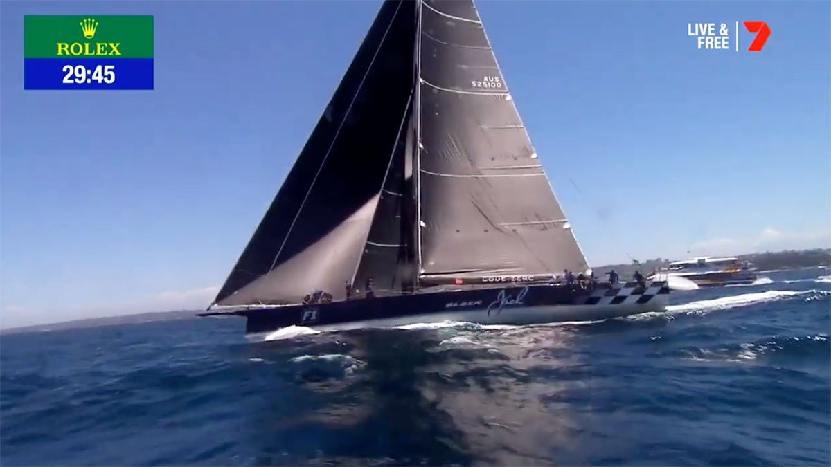 So why are all the yacht sails black in this year's Sydney to Hobart