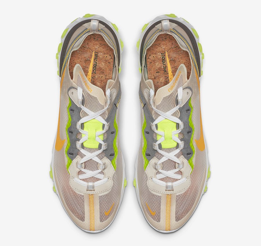 "83ca54a506e3a Nike React Element 87 ""Light Orewood Brown"" Color  Light Orewood Brown Volt  Glow-Cool Grey-Laser Orange Style Code  AQ1090-101 Release Date  2019  Price  ..."