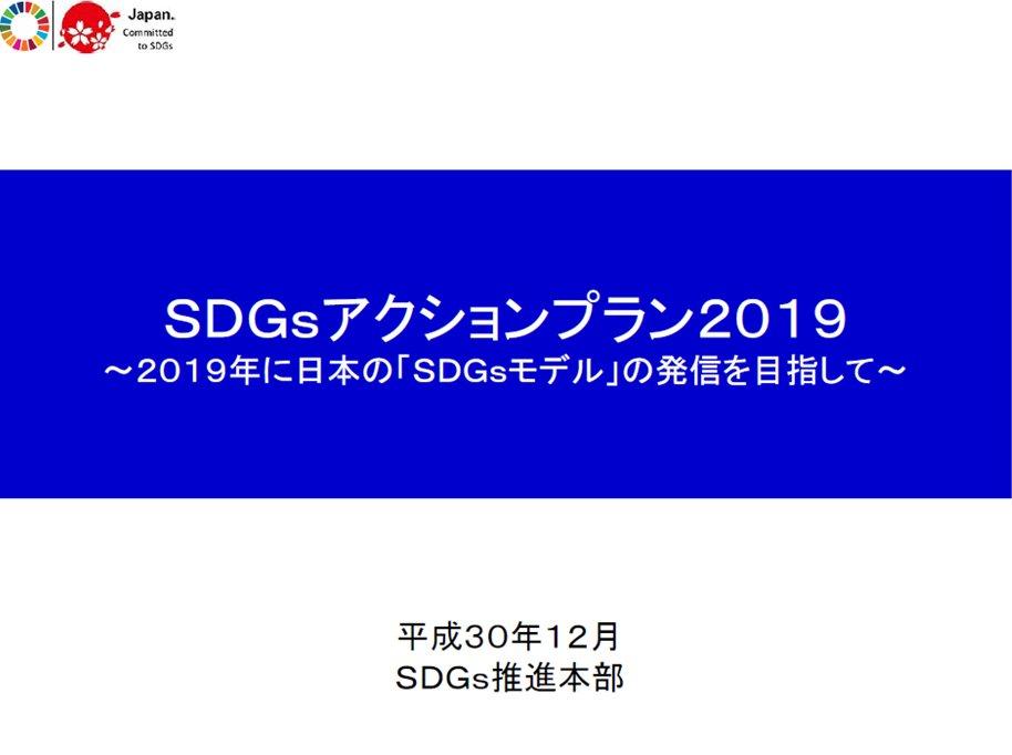 sdgs アクション プラン 2019