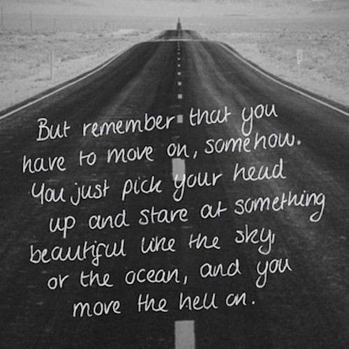 struggling to move on