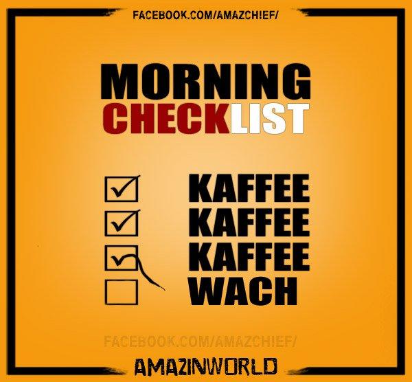Amazinworld Auf Twitter Die Morgendliche Checkliste