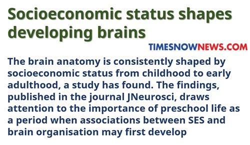 Socioeconomic Status And Developing >> Vladk On Twitter Socioeconomic Status Shapes Developing Brains