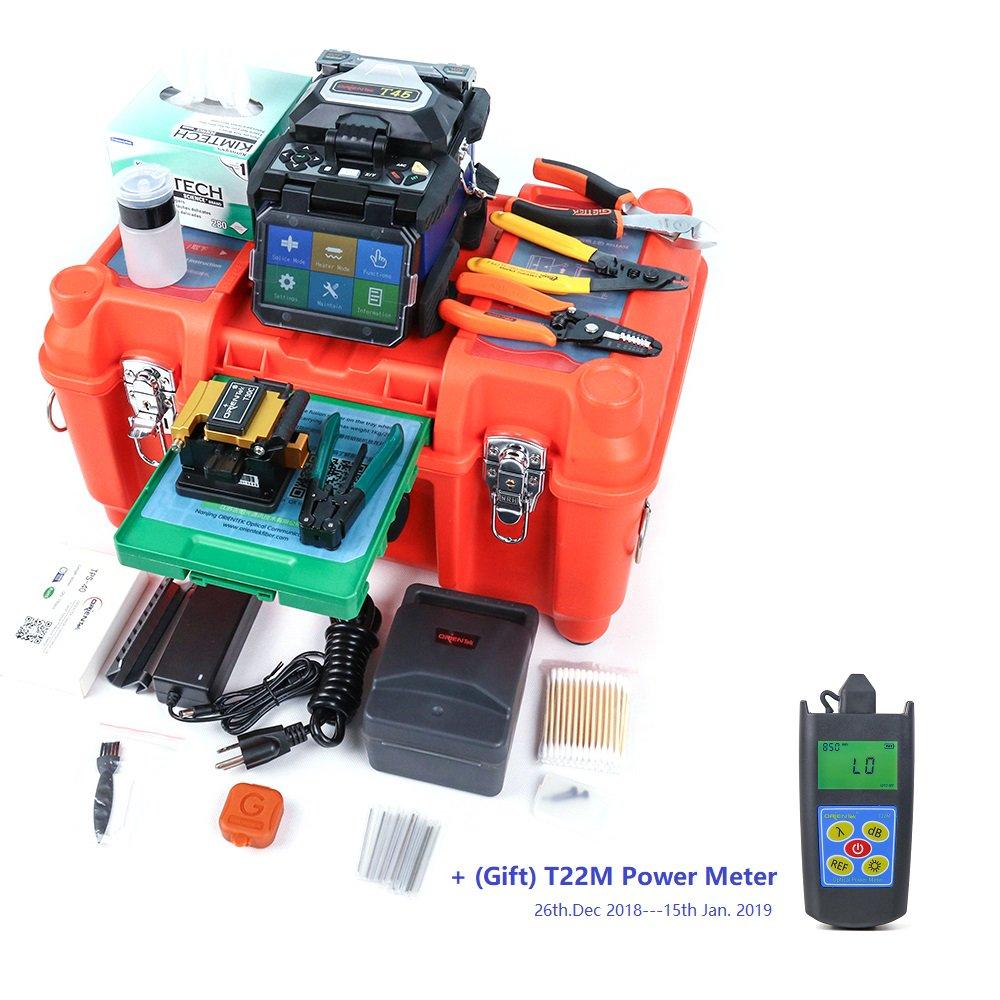 Orientek T45 Fusion Splicer With SV20A SM 1310//1550nm 32//30dB Tool Kit Fedex