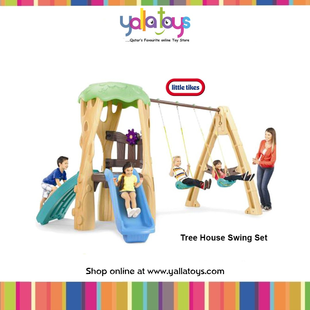5610d1f831b1db Yalla Toys On Twitter Tree House Swing Set Shop Now At Yalla Toys