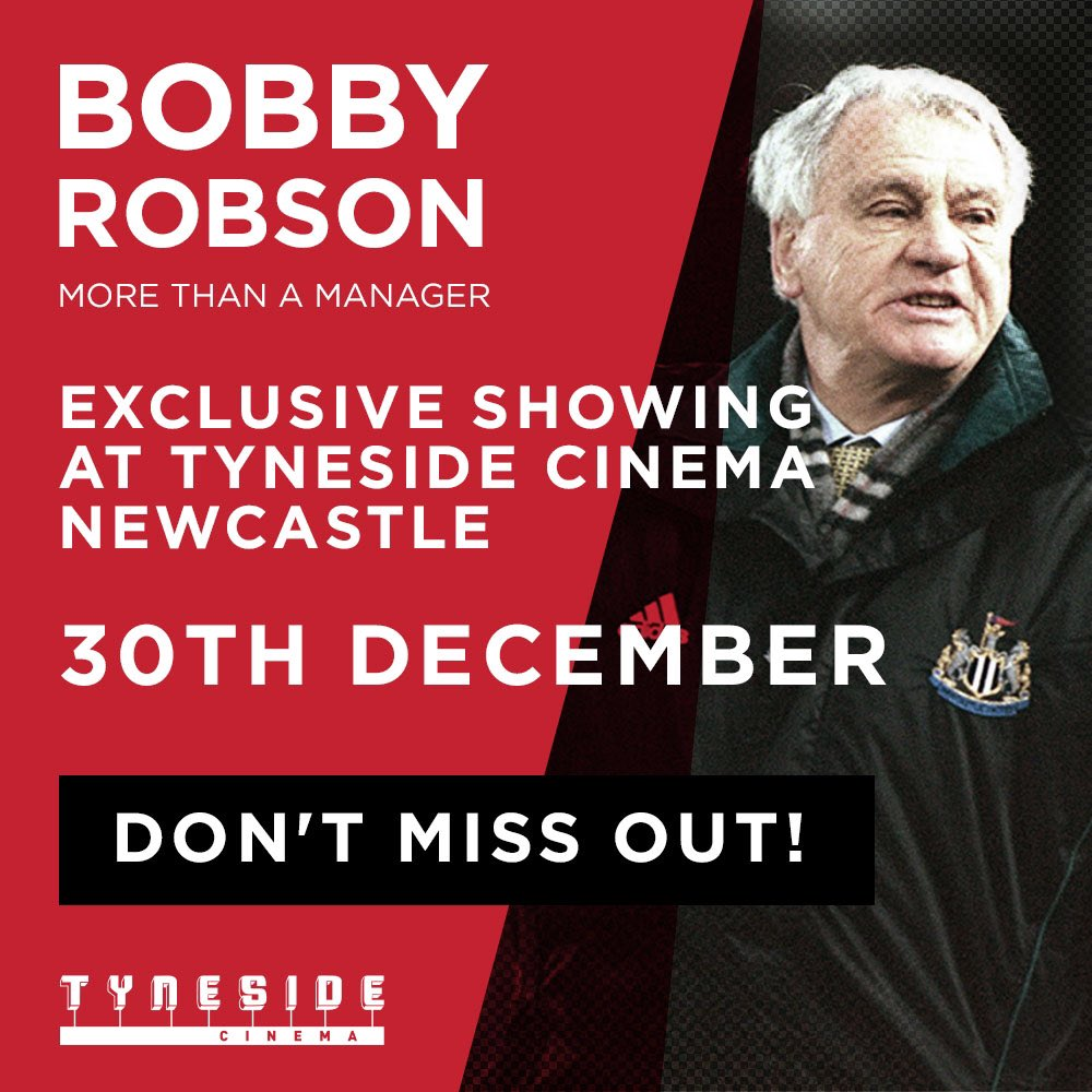 Exclusive Tyneside cinema screening:  Round off the year in style by watching #MoreThanAManager @tynesidecinema 30th December  Don't miss out...