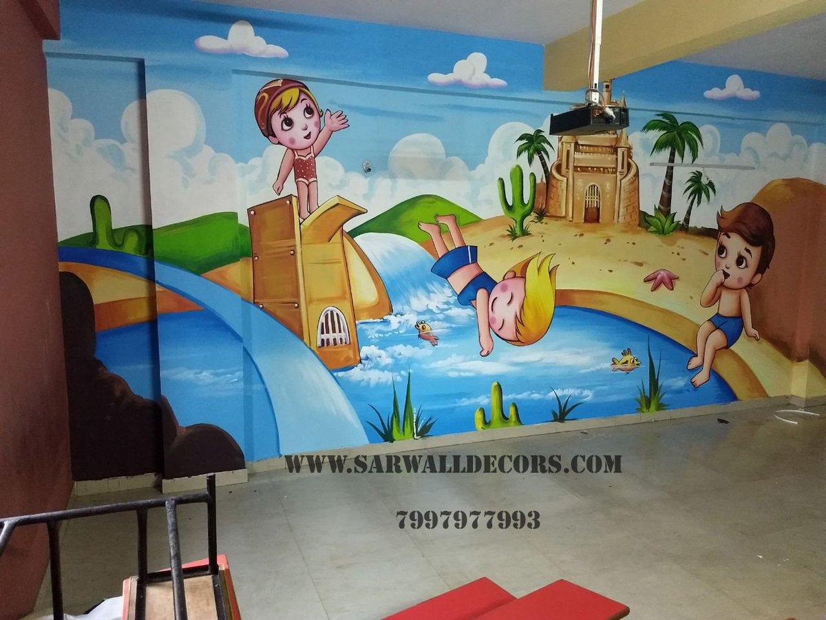 Radhika Sarwalldecors On Twitter Wall Designs For Primary School Hyderabad 3dwallpainting For Play School Wall Painting For Pre Primary School Play School Painting Images Wall Painting Ideas For Kindergarten Play School Interior