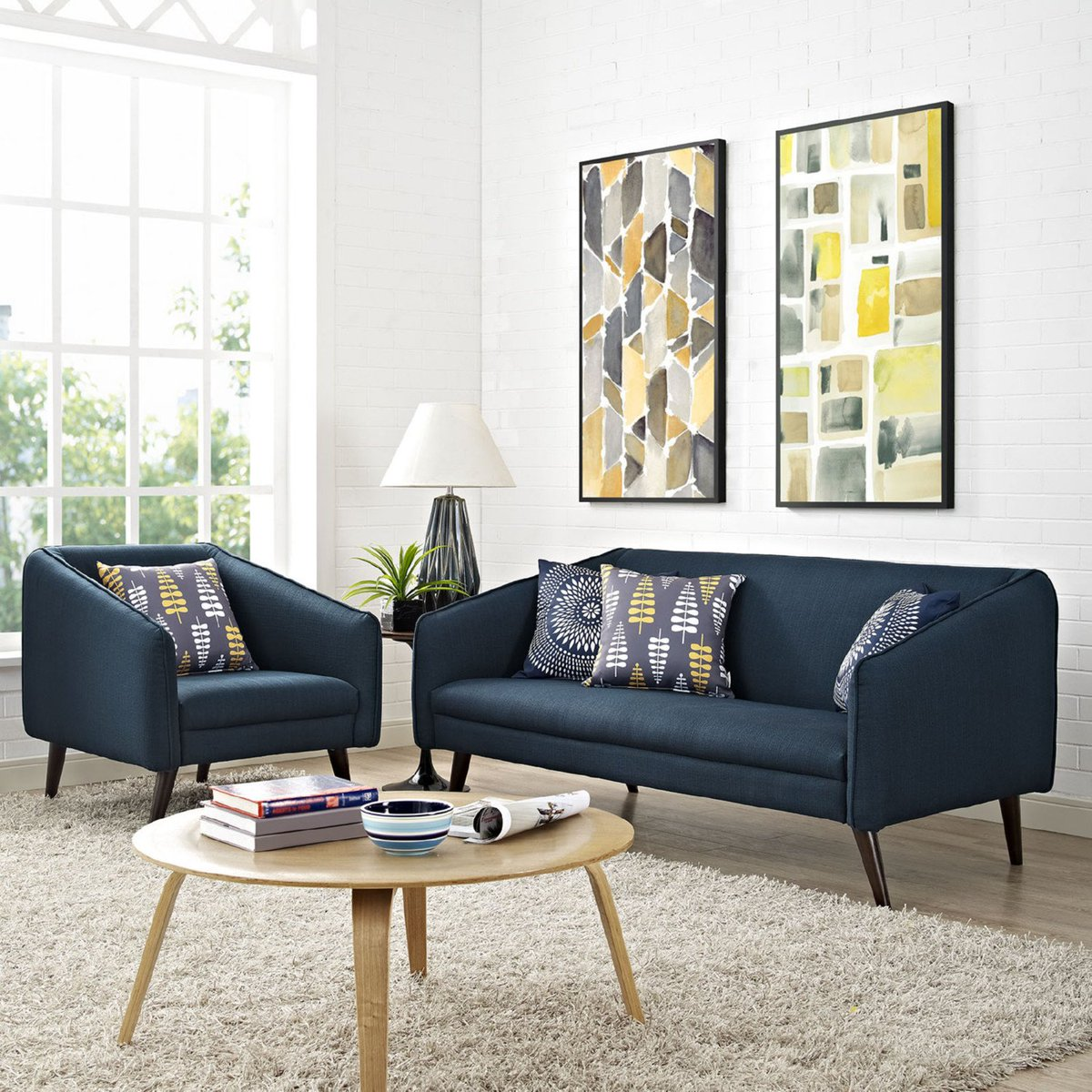 Foam padding and a rich mid century style https www modode com p slide sofa in azure sofas and sectionals 6371 sofa midcentury modern