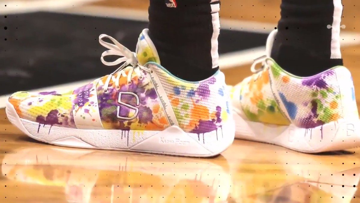 .@SDinwiddie_25 has worn some sick sneakers this year: