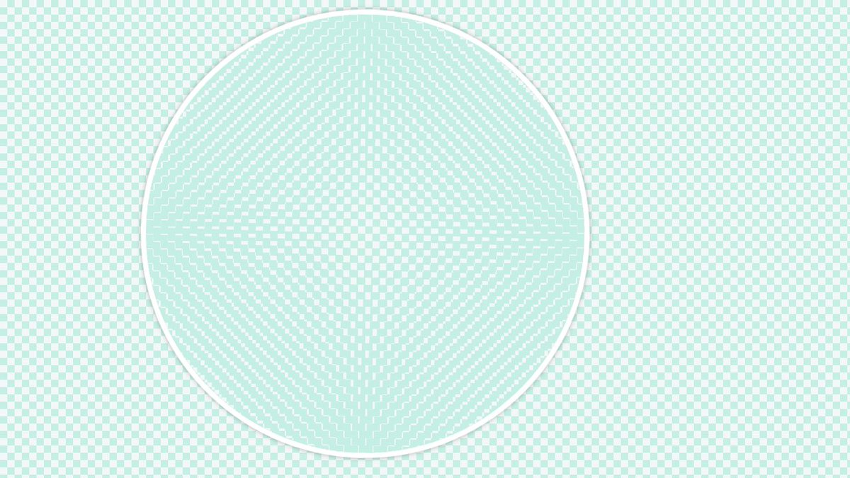 Moiré Pattern with CSS Gradients: checkerboard and circle - see how