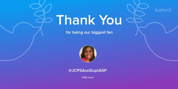 Our biggest fans this week: @JCPSAsstSuptASP. Thank you! via sumall.com/thankyou?utm_s…
