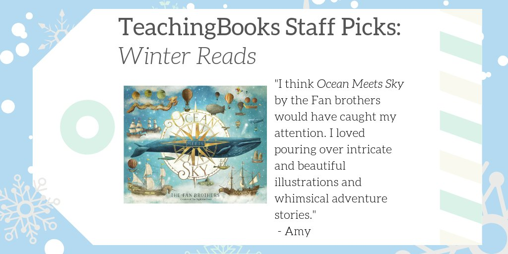 "test Twitter Media - We asked TeachingBooks Staff, ""What would you read over winter break if you were a kid?""  Amy picked Ocean Meets Sky! Find resources for the book at https://t.co/e1VghI2uI2  #TBStaffPicks #WinterReads  @SimonKIDS  @igo2cairo    @opifan64 https://t.co/fXI3fVSZce"