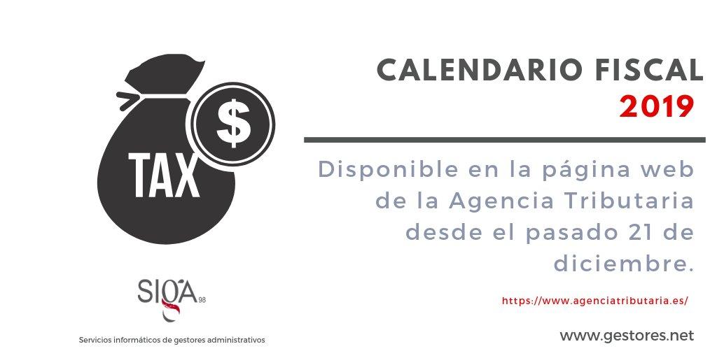 Aeat Calendario Fiscal 2019.Siga On Twitter La Aeat Ya Ha Publicado El Calendario Del