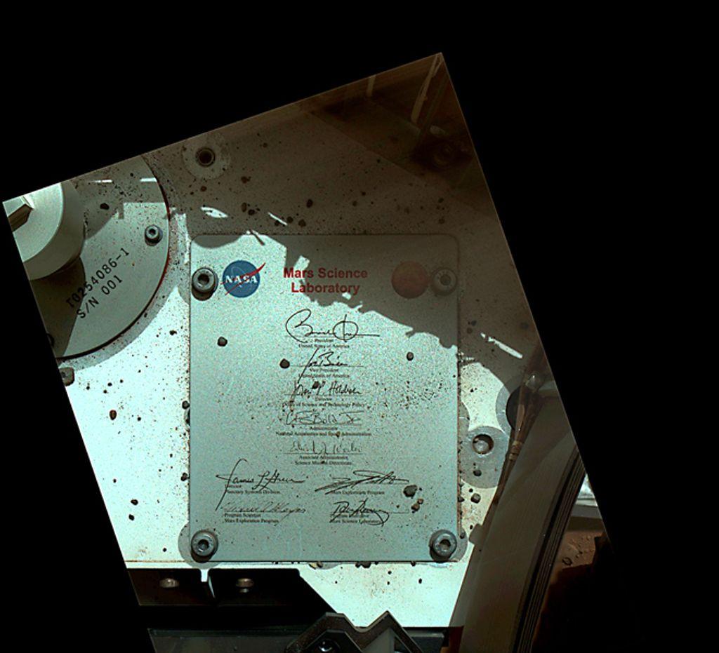 President's Signature Onboard Curiosity  #Nasa #Mars #NASAPast8Years