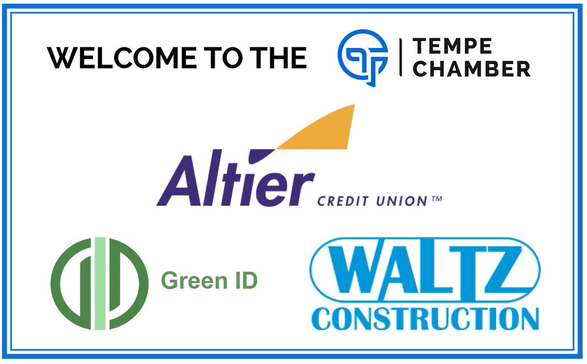 Altier Credit Union >> Tempe Chamber On Twitter It S Welcome Wednesday Please