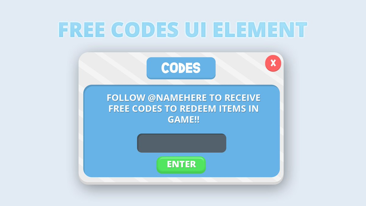 Edmond On Twitter Free Twitter Codes Ui Element For Roblox