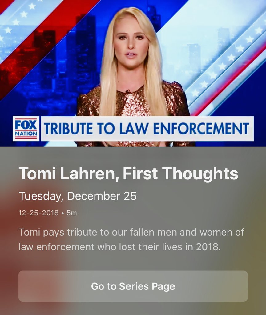We lost 44 officers in 2018. My tribute to all 44 is posted now on @foxnation