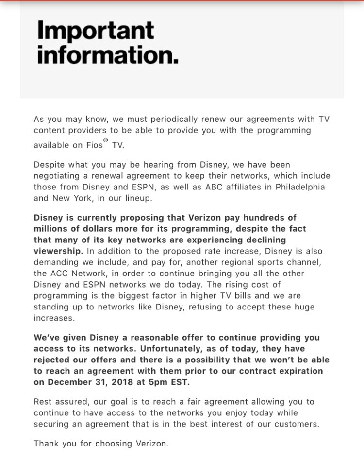 Daniel Roberts On Twitter This Is Quite An Email From Verizon To