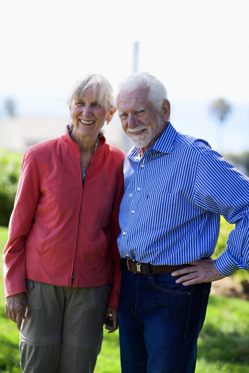 Marty Cooper (EE '50, M.S. '57), you made history by inventing the cell phone, and you've served humanity in so many ways! Like or RT to @MartyMobile to wish a happy 90th birthday to pioneering inventor Marty Cooper, pictured here with his partner, entrepreneur Arlene Harris!
