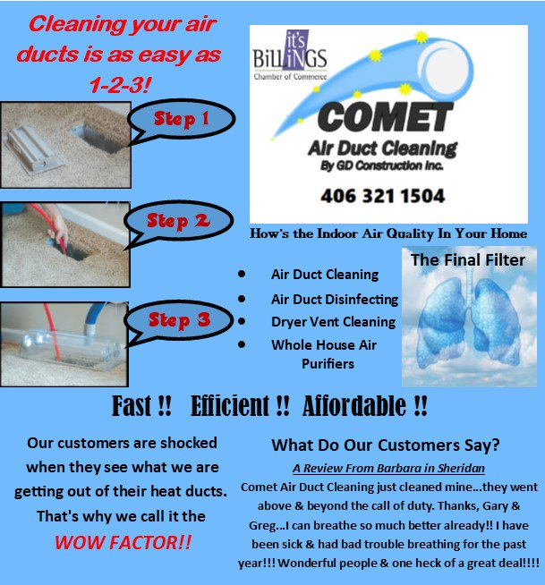Comet Duct Cleaning on Twitter:
