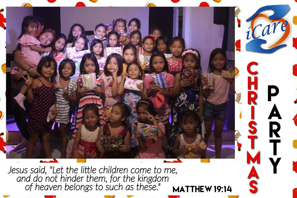 "KIDDOZ Christmas Party 2018  Matthew 19:14 NIV Jesus said, ""Let the little children come to me, and do not hinder them, for the kingdom of heaven belongs to such as these.""  God bless ICare Ministry!  #ICare #Kiddoz"